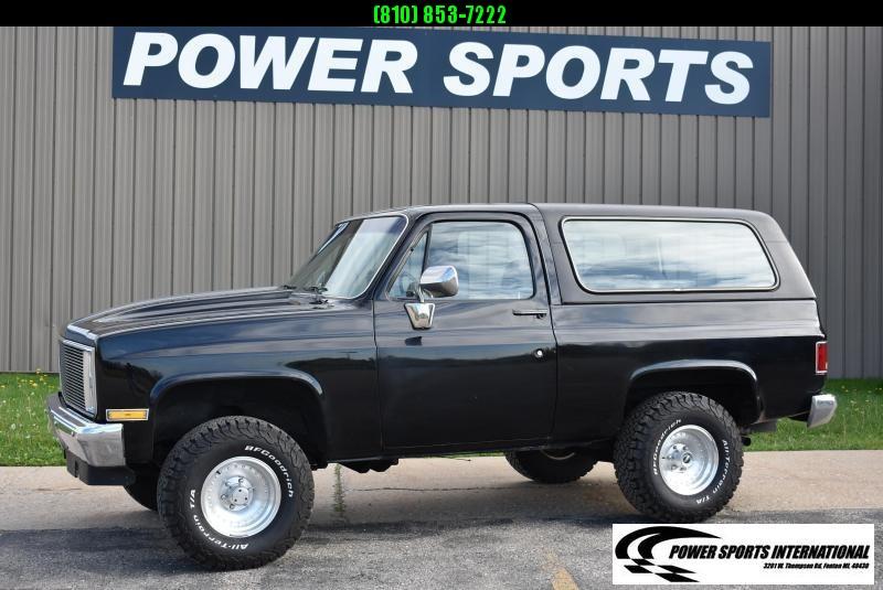 1985 Chevrolet Blazer K5 Only 66K Miles Black SUV 383 V8 Automatic Full Size Truck Classic Style #8578