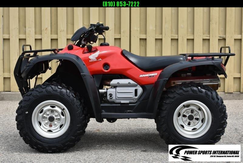2004 HONDA TRX400FGA4 FT RANCHER AUTOMATIC TRANSMISSION RED (4X4) GLOSS RED HONDA ATV #1179