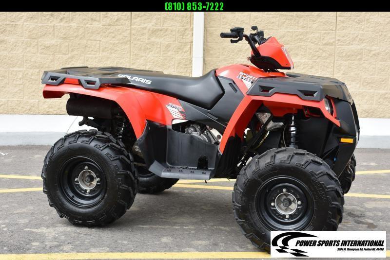 2013 POLARIS SPORTSMAN 500 HO 4X4 FIRE ENGINE RED ATV #6748