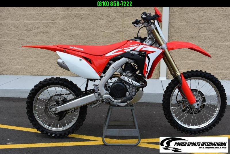 2018 HONDA CRF450R Electric Start 4-Stroke MX Off Road Motorcycle #2838