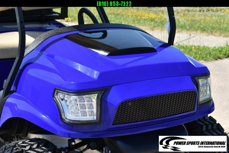 CUSTOM 2018 CLUB CAR PRECEDENT GAS POWERED METALLIC BLUE w/ Thousands in Extras! #9884
