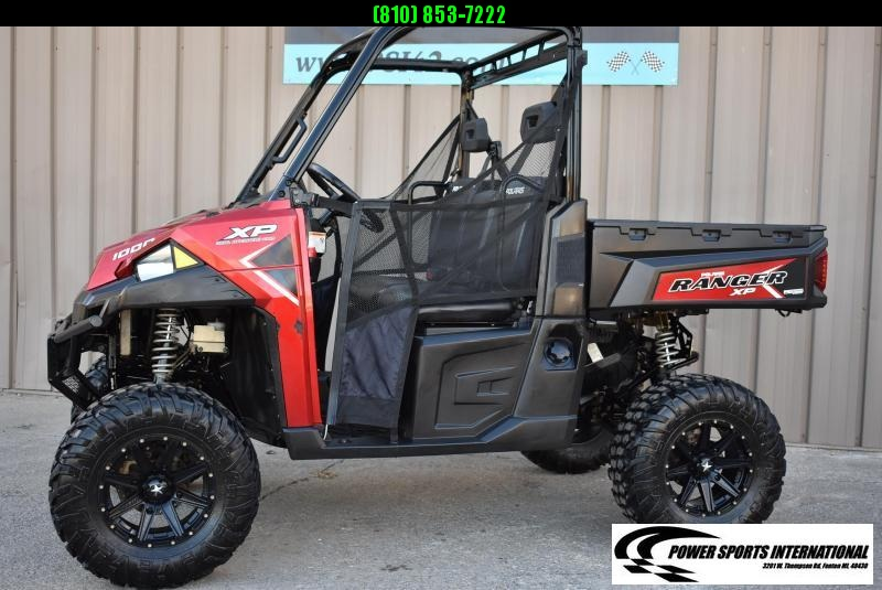 2017 POLARIS RANGER XP 1000 EPS METALLIC RED LIFTED ELECTRIC POWER STEERING UTILITY UTV #1117