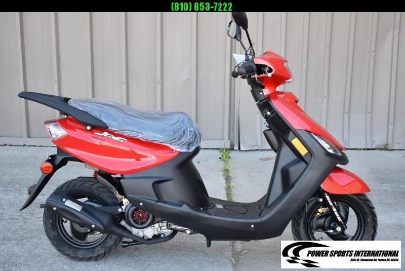 2020 Aeolus Linhai 50V YAMAHA JOG Scooter Red #0013