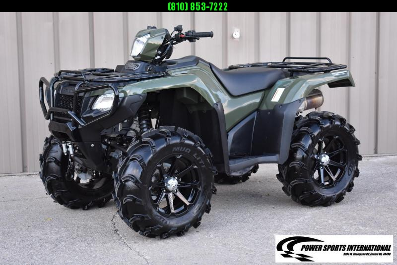 2017 HONDA TRX500FM6H FOURTRAX FOREMAN RUBICON GREEN 4X4 ATV 2765