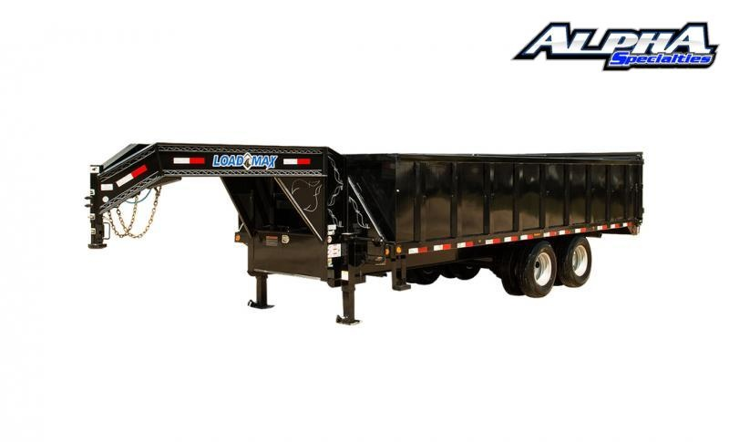 "2021 Load Trail 102"" x 20' Tandem Heavy Duty Gooseneck Dump Deck Over W/ 48"" Sides 22K GVWR"