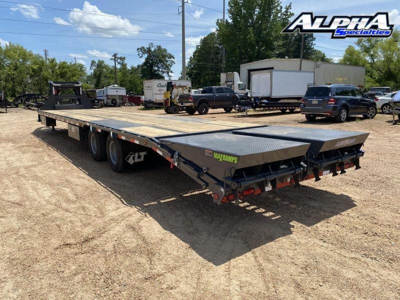 "2020 Load Trail 102"" x 40' Tandem Low-Pro Gooseneck w/Under Frame Bridge & Pipe Bridge 24K GVWR"