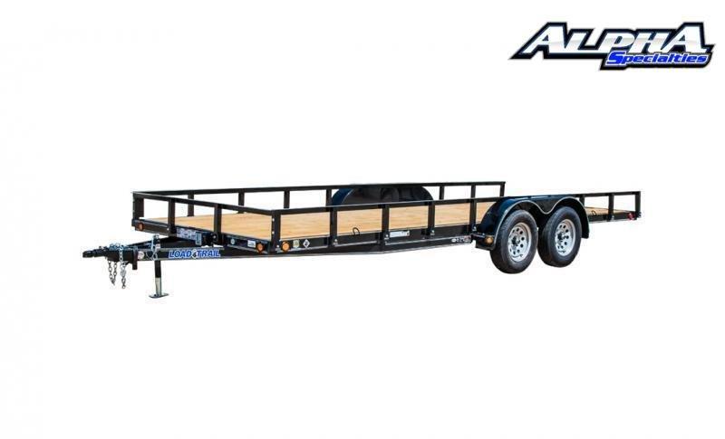 "2021 Load Trail 83"" x 16' Tandem Axle Utility (4"" Channel Frame) 7K GVWR"