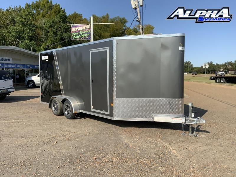 2022 ALCOM 7 x 16 Tandem Enclosed Cargo Trailer