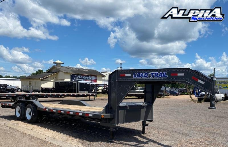 "2021 Load Trail 102"" x 24' Tandem Axle 10"" I-Beam Frame Gooseneck Equipment Hauler 20K GVWR"