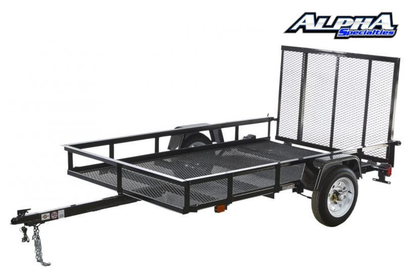Used 2019 Carry-On 5' x 8' Utility / Landscape Trailer 2K GVWR