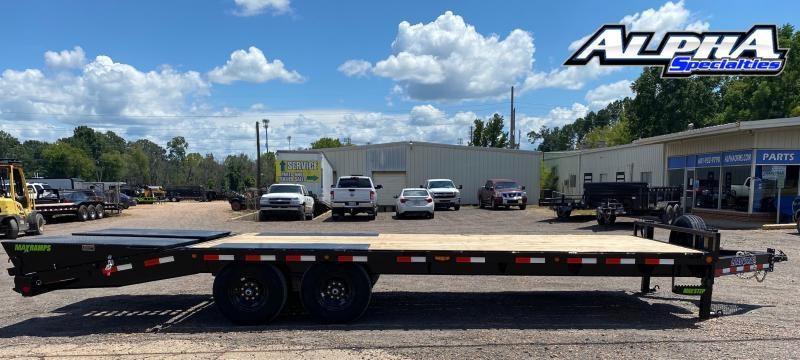 "2021 Load Trail 102"" x 24' Tandem Standard Pintle Hook Equipment Trailer 14K GVWR"