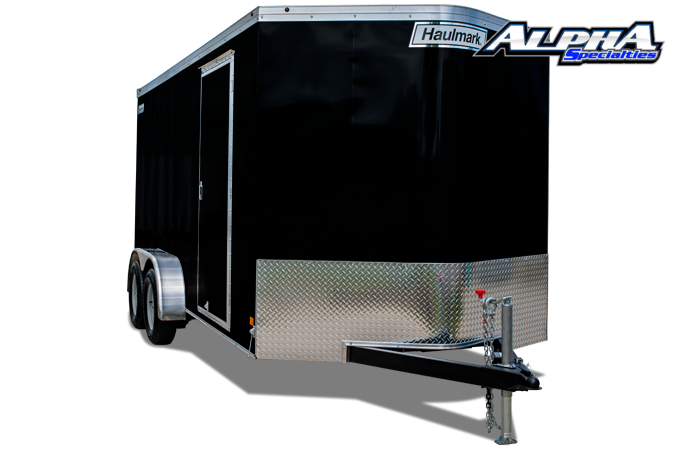 2021 Haulmark 7' x 16' Transport V-Nose Tandem Enclosed Trailer 9990 GVWR