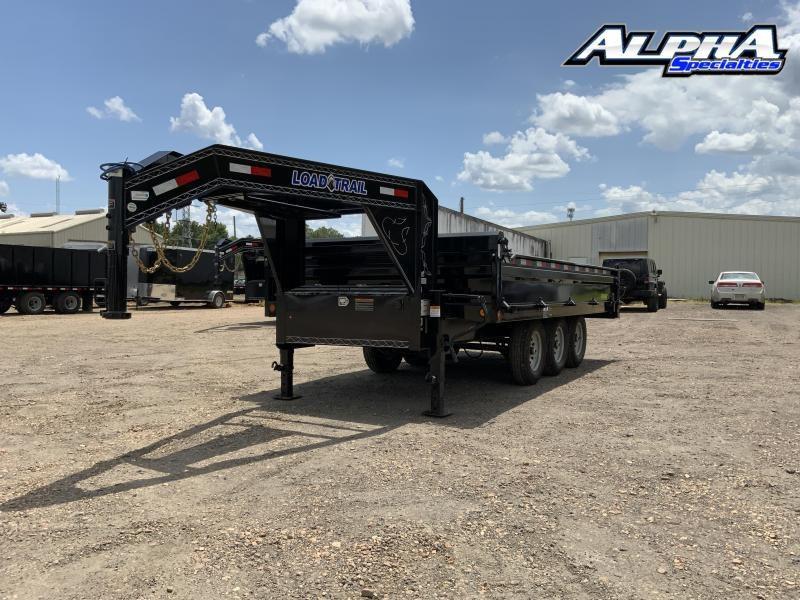 """2021 Load Trail 96"""" x 16' Triple Axle Gooseneck Deck Over Dump - 18"""" Sides"""