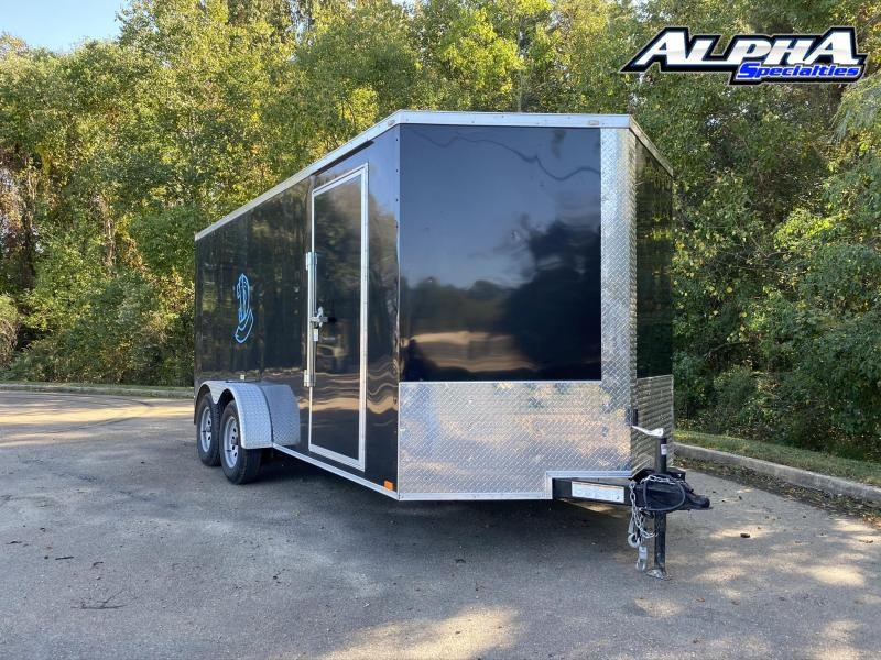 Used 2020 Seed Cargo 7 x 16 Tandem Axle Enclosed Cargo Trailer