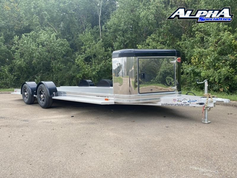 "2021 Sundowner Sunlite Ultra Series 81"" x 22'  Tandem Axle Carhauler w/ LED Clearance Light & Spread Axles"