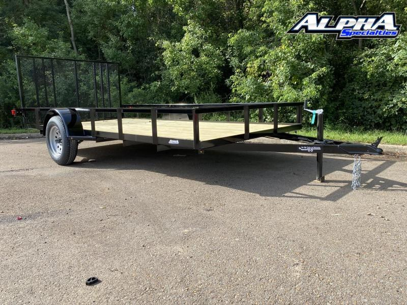 2020 Bye Rite 6.6' x 14' Angle Iron Single Axle 2990 GVWR Utility Trailer