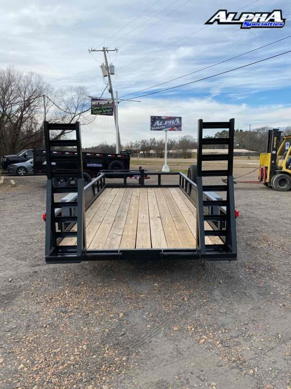 Used 2020 Long Run 7' x 16' Tandem Axle Utility Trailer 14K