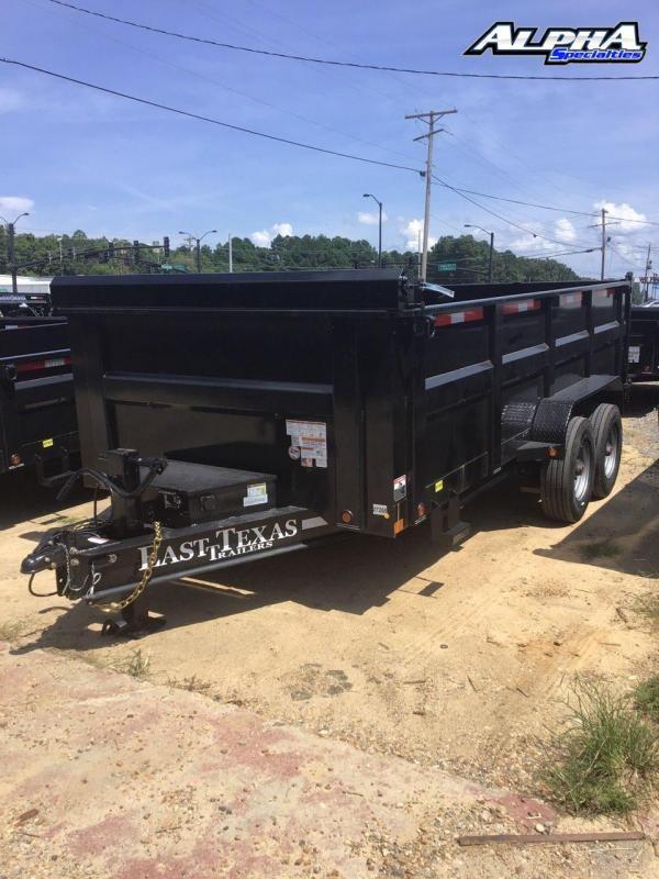 "2021 East Texas 83"" x 16' Tandem Dump Trailer"
