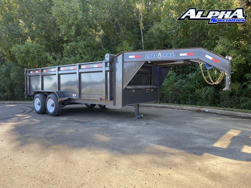 "2021 Load Trail 83"" x 16' Tandem Axle Gooseneck Dump Trailer 16K GVWR"