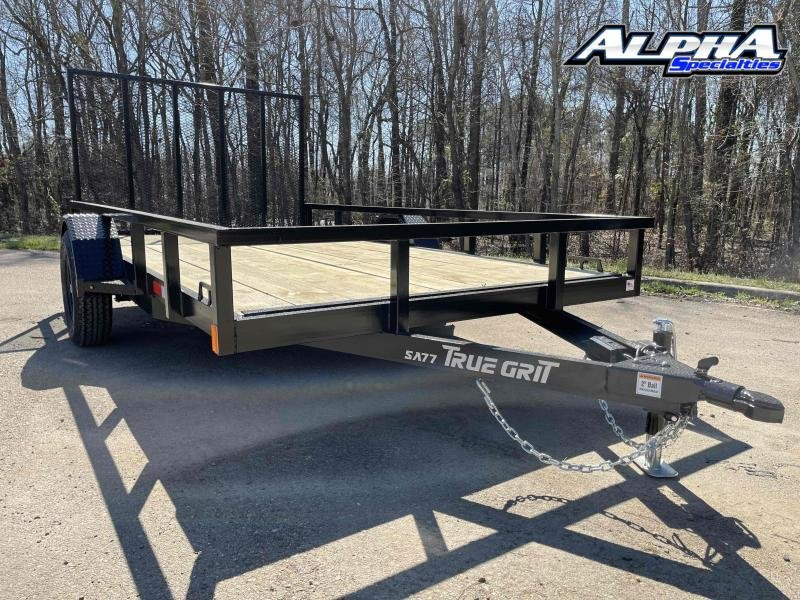 "2021 True Grit 77"" x 12' Single Axle Utility Trailer 3K GVWR"