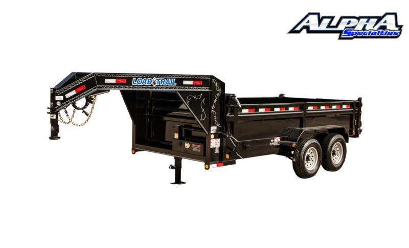 "2021 Load Trail 83"" x 14' Tandem Axle Gooseneck Dump Trailer 14K GVWR w/ 24"" Sides"