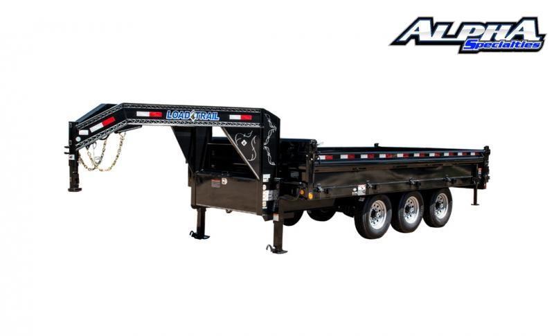 """2021 Load Trail 96"""" x 16' Triple Axle Gooseneck Deck Over Dump"""