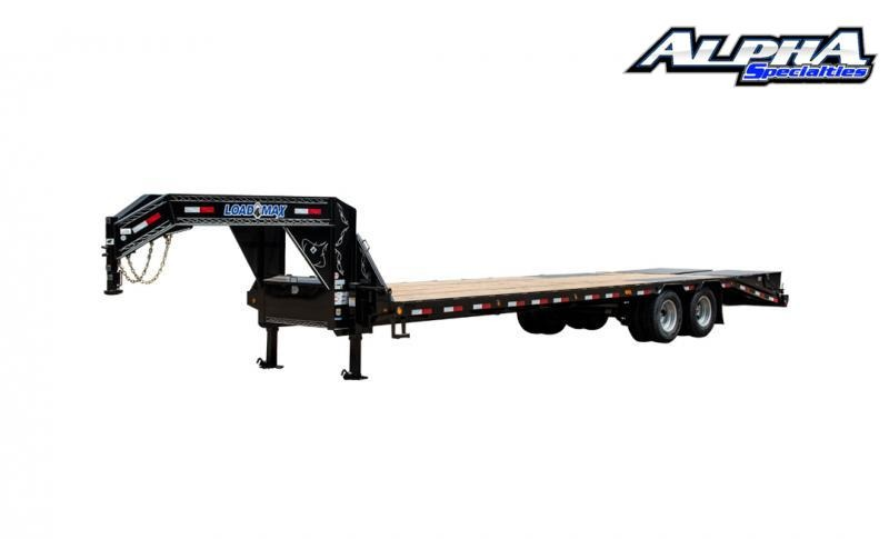 "2021 Load Trail 102"" x 40' Tandem Low-Pro Gooseneck w/Under Frame Bridge & Pipe Bridge 25900 GVWR"