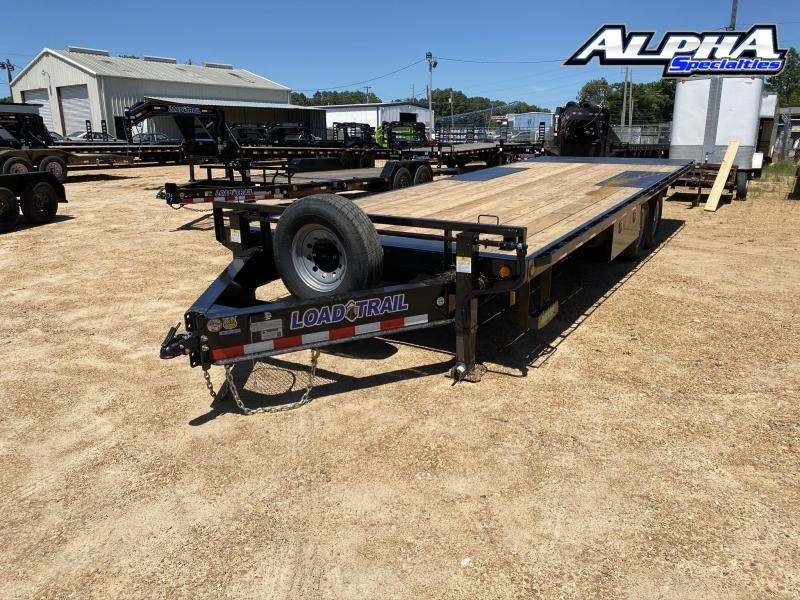 "2020 Load Trail 102"" x 24' Tandem Pintle Hook Equipment Tilt Deck Trailer 14K GVWR"