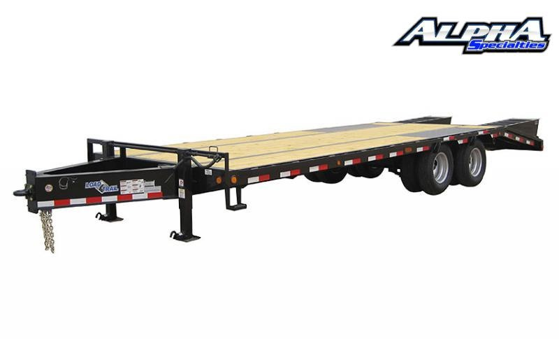 "2021 Load Trail 102"" x 24' Tandem Low-Pro Pintle Hook Equipment Trailer 24K GVWR"