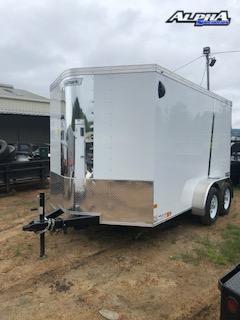 2021 Haulmark 7' x 12' V-Nose Enclosed Trailer