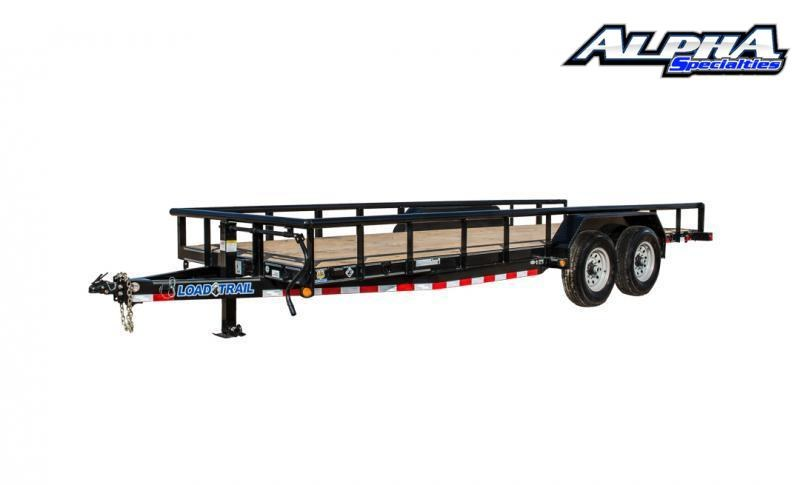 "2021 Load Trail 83"" x 18' Tandem Axle Carhauler w/3"" x 5"" Angle Frame 14K GVWR"