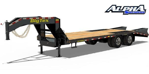 "Used 2019 Big Tex 102"" x 30"" Tandem Axle Gooseneck Equipment Trailer 22K GVWR"
