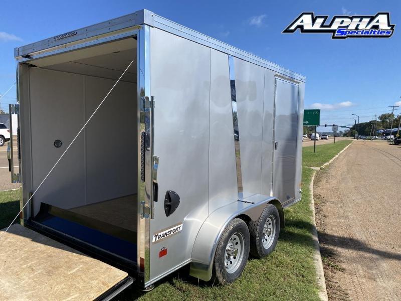 2021 Haulmark 7' x 12' Transport V-Nose Tandem Axle Enclosed / Cargo Trailer 7K GVWR