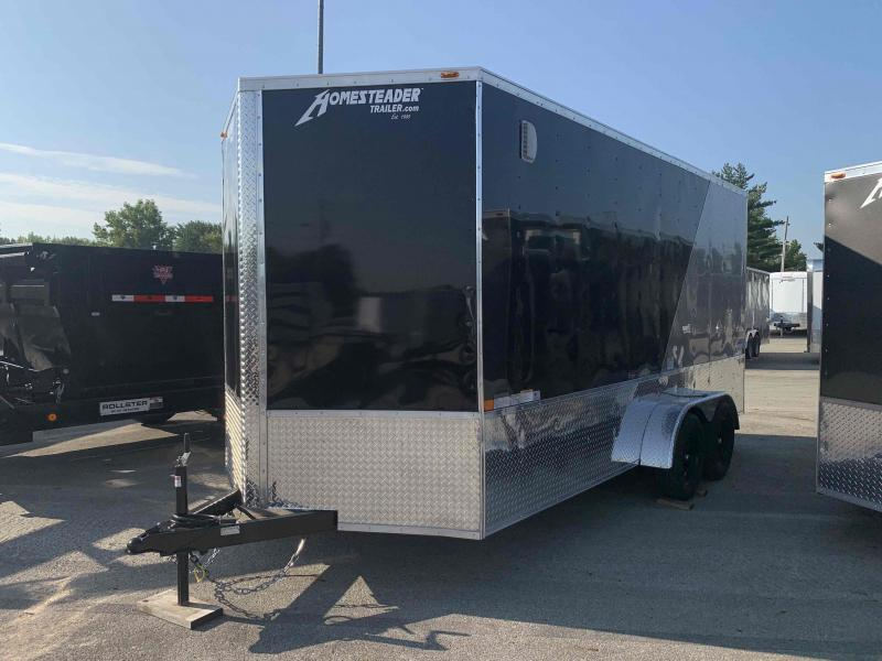 2021 Homesteader Trailers INTREPID TWO TONE 7 X 16 FT CARGO TRAILER OHV PACKAGE