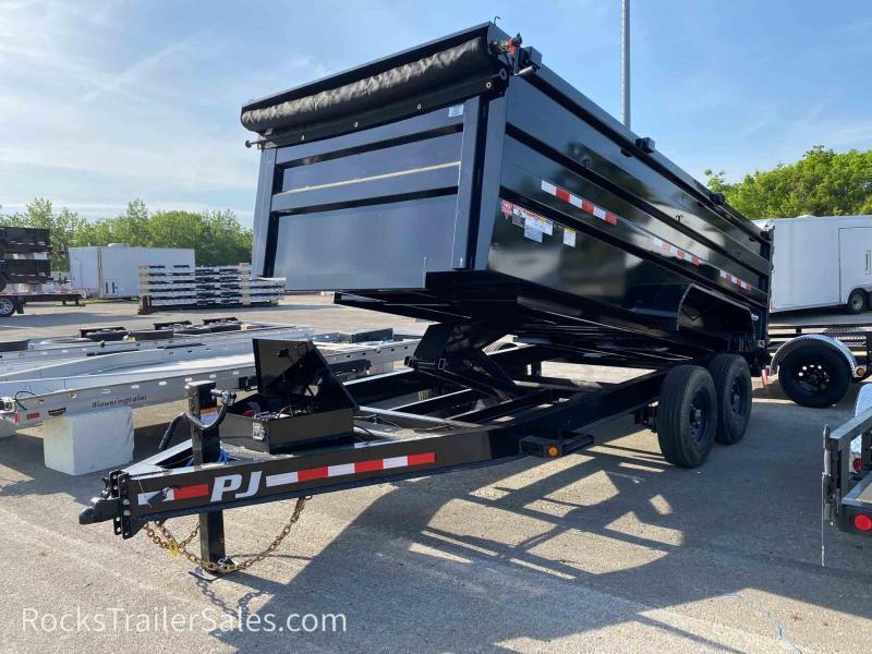 2022 PJ Trailers LOW PRO 7 X 14 FT HIGH SIDE DUMP TRAILER 16K