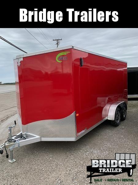 2019 NEO Trailers NAV167TF Flat Top Cargo Enclosed Cargo Trailer