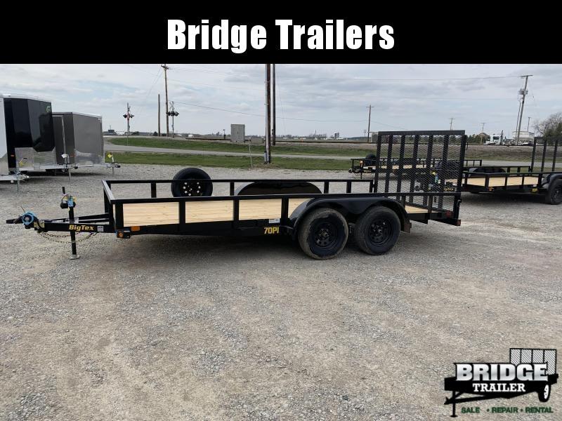"""2022 Big Tex Trailers 70PI-16X (83"""" x 16') Utility Trailer"""