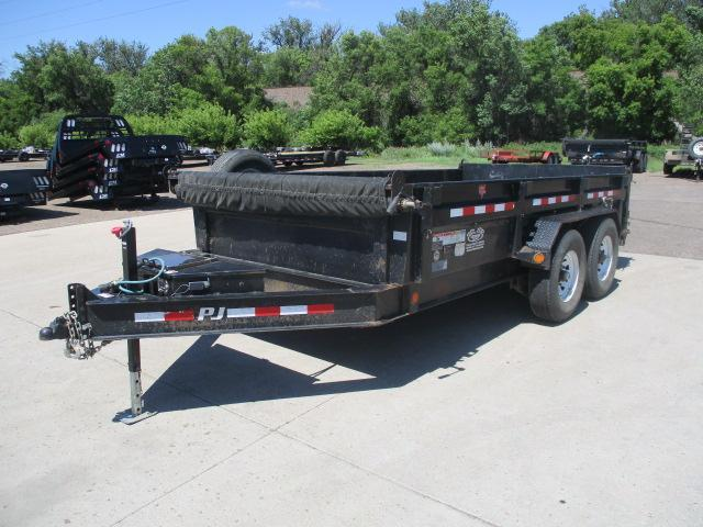 RENTAL 2017 PJ Trailers 14' Low Pro Dump Trailer