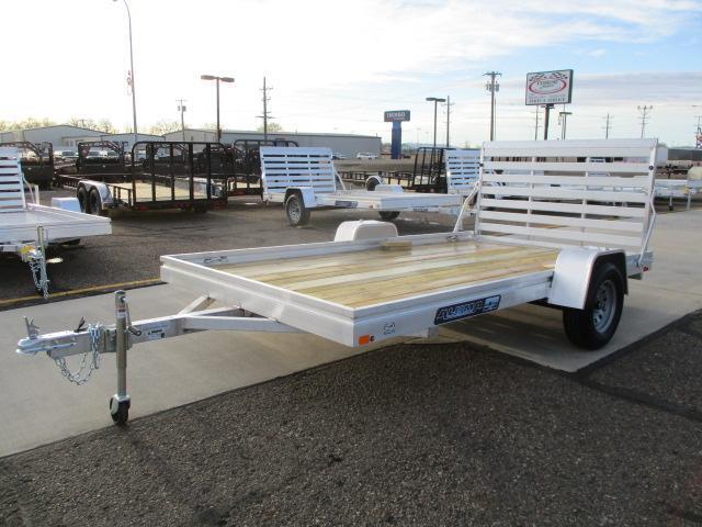 2022 Aluma 7812 Edge Series Wood Deck Utility Trailer