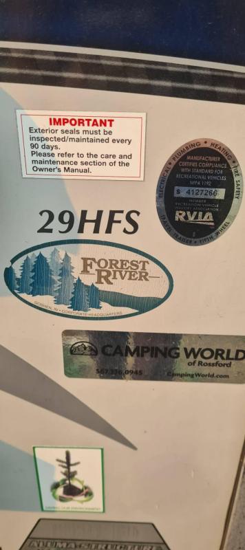 SPECIAL 2017 Forest River Inc. XLR HYPER LITE 29HFS Camper