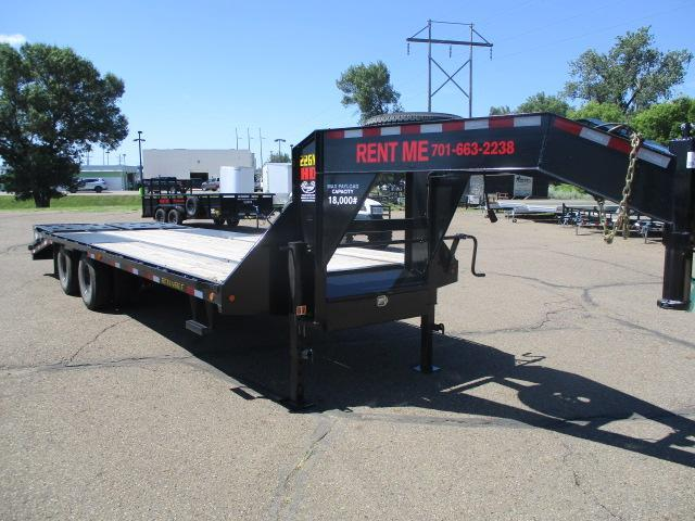 RENTAL 2020 Big Tex Trailers 22GN-20BK+5MR Flatbed Trailer