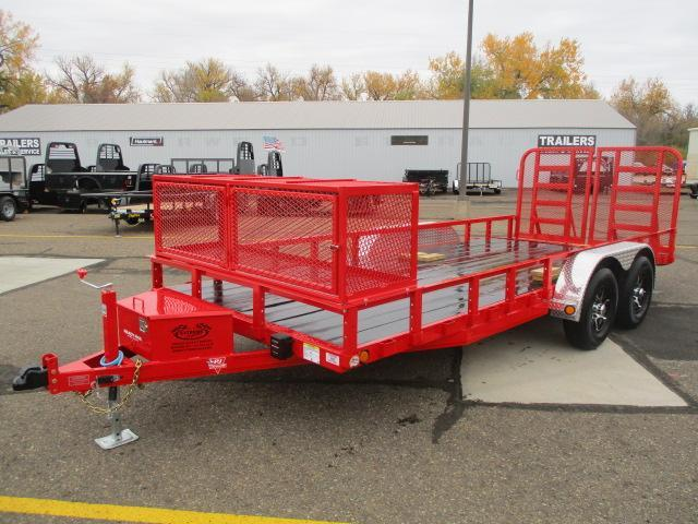 "2021 PJ Trailers 18' x 83"" Tndm Axle Channel Utility Trailer"