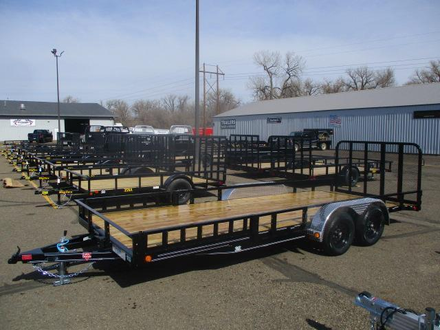"2022 PJ Trailers 20'x83"" Tndm Axle Channel Utility Trailer"