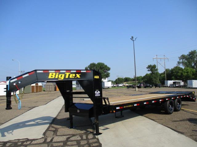 2022 Big Tex Trailers 14GN-20BK+5MR Flatbed Trailer