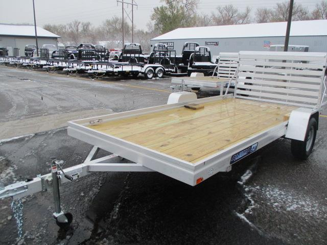 2021 Aluma 7814ESW Wood Deck Utility Trailer