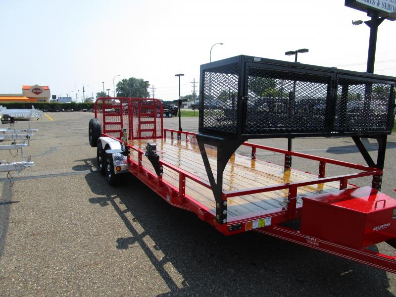 "2018 PJ Trailers 22' x 83"" Tandem Axle Channel Utili Trailer"