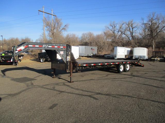 2014 PJ Trailers Flatbed with Singles Equipment Trailer