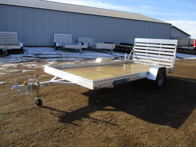 2022 Aluma 7814ESW Wood Deck Utility Trailer