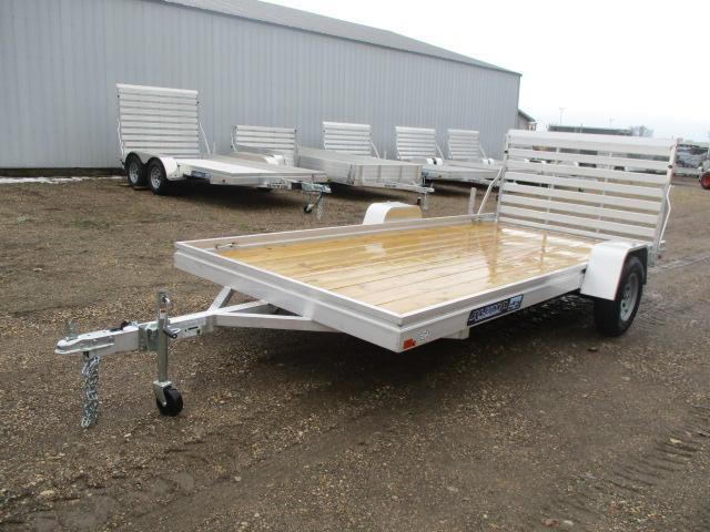 2020 Aluma 7814 Edge Series Wood Deck Utility Trailer
