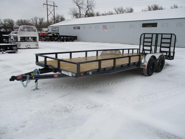 "2021 PJ Trailers 22' x 83"" Tndm Axle Channel Utility Trailer"